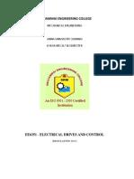 Electrical Drives and control-U1-5-QB