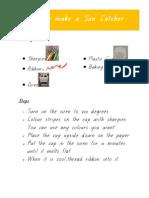 how to make a suncatcher full procedure