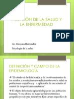 Definición y Campo de La Epidemiología