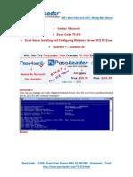 [PassLeader] Microsoft 70-410 445q Exam Dumps [PDF] (1-20)