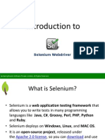 Introduction to Selenium Webdriver - SpringPeople