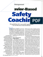 Behavior Based Safety Coaching-Work-Observation