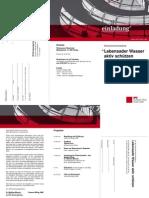 """Einladung Diskussionsveranstaltung """"Lebensader Wasser aktiv schützen"""" von Susanne Mittag, MdB und Dr. Matthias Miersch, MdB, am 25.06.2015 in Brake"""