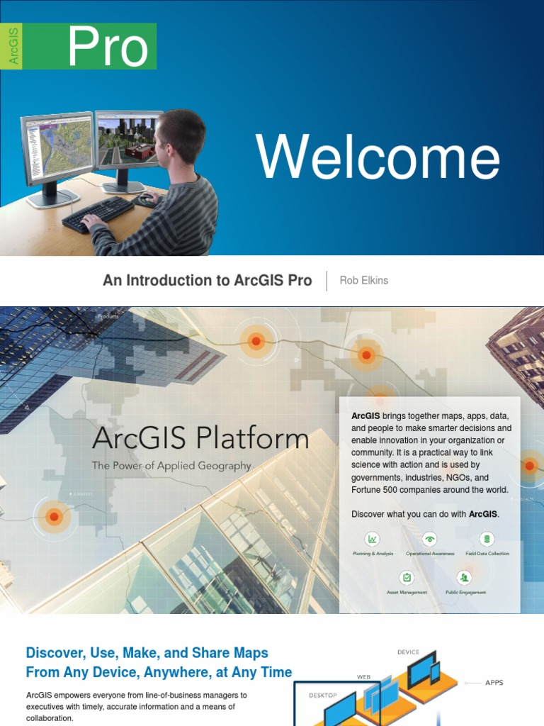 Introduction to Arcgis Pro   Arc Gis   Application Software