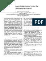 Off-line Energy Optimization Model for CDU