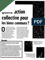 Quelle Action Collective Pour Les Biens Communs