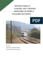 Propuestas para la concienciación, uso y defensa del ferrocarril Baíña-Collanzo (Asturias)