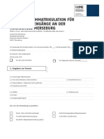 Immatrikulationsantrag Master Web