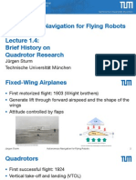 Brief History on Quadrotor Research