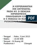 Asuhan Keperawatan Periode Antenatal Ppt