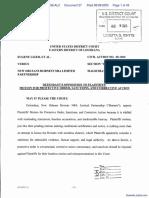 Liger et al v. New Orleans Hornets NBA Limited Partnership - Document No. 27