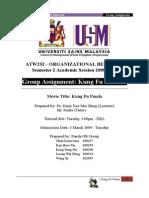 ATW251 Full Project Organizational behavior