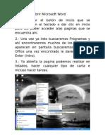Pasos Para Abrir Microsoft Word