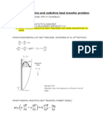 Coupled Convective and Radiative Heat Transfer Problem