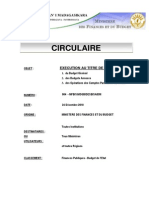 Circulaire Budgetaire 2011