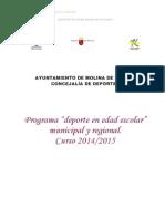 Deportes Molina-Clausura Deporte en Edad Escolar-RESUMEN CURSO 2014-2015