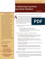 How High Achieving Countries Develop Great Teachers