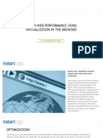 Faster Web Performance Using Virtualization in the Browser