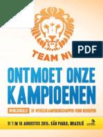 WorldSkills 2015 kandidaten brochure