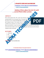 Design and Simulation of Three Phase Inverter for Grid Connected Photovoltaic Systems