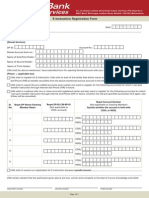 E Instruction Registration Form