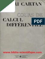 Cours de calcul différentiel - Henri Cartan, Paris, Hermann, 1967.pdf
