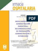 Separata Medicamentos de Administracion Parenteral. Recomendaciones