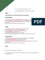 Certificate Install Procudure