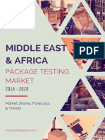 Middle East And Africa Package Testing Market By Primary Packaging Material, Packaging Services, Countries And Vendors - Forecasts, Trends And Shares (2014- 2019)