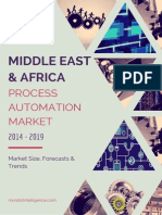 Middle East And Africa Process Automation Market By Type, Application, Industries And Countries Market Size, Forecasts And Trends (2014 - 2019)
