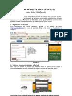 Insertar un archivo de Texto en un Blog