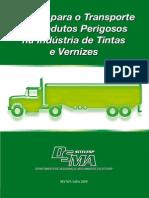 Manual Transporte Produtos Perigosos Tintas e Vernizes