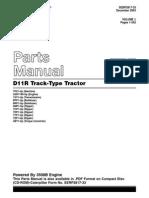 Manual de partes tractor D11R