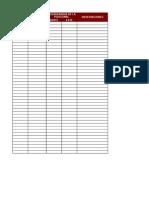 Pendientes de Línea de Flujo (Formato en Blanco)