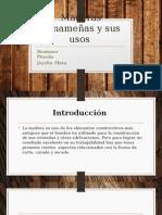 Maderas Panameñas y Sus Usos