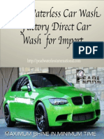 Pearl Waterless Car Wash – Factory Direct Car Wash for Import