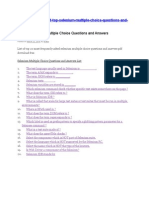 Selenium Multiple Choice Questions and Answers List