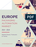 Europe Packaging Automation Market by Solutions, Products, End Users, Countries and Vendors - Forecasts, Trends and Shares (2014- 2019)