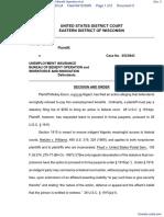 Exum v. Unemployment Insurance Bureau of Benefit Operation et al - Document No. 3