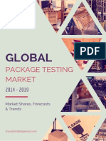 Global Package Testing Market –by Primary Packaging Material Packaging Services Geography and Vendors Forecasts