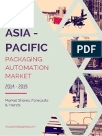 Asia Pacific Packaging Automation Market by Solutions, Products, End Users, Countries and Vendors - Forecasts, Trends and Shares (2014- 2019)