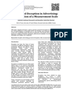 Ad Deception Scale[14]