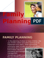 Family Planning Report
