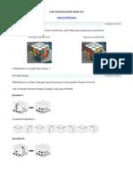 Cara Mudah Menyelesaikan Rubik 3x3 Terbaru