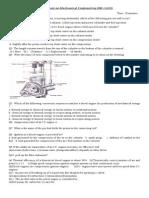 Quiz on Mechanical Engineering