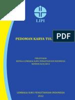 Peraturan Kepala LIPI Ttg Pedoman KTI