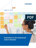 Amendment to the Commercial Code in Slovakia | News Flash