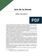Kundera, Milan - El Arte De La Novela.doc