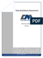 Estimating Material Requirements