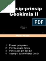 Prinsip-prinsip Geokimia